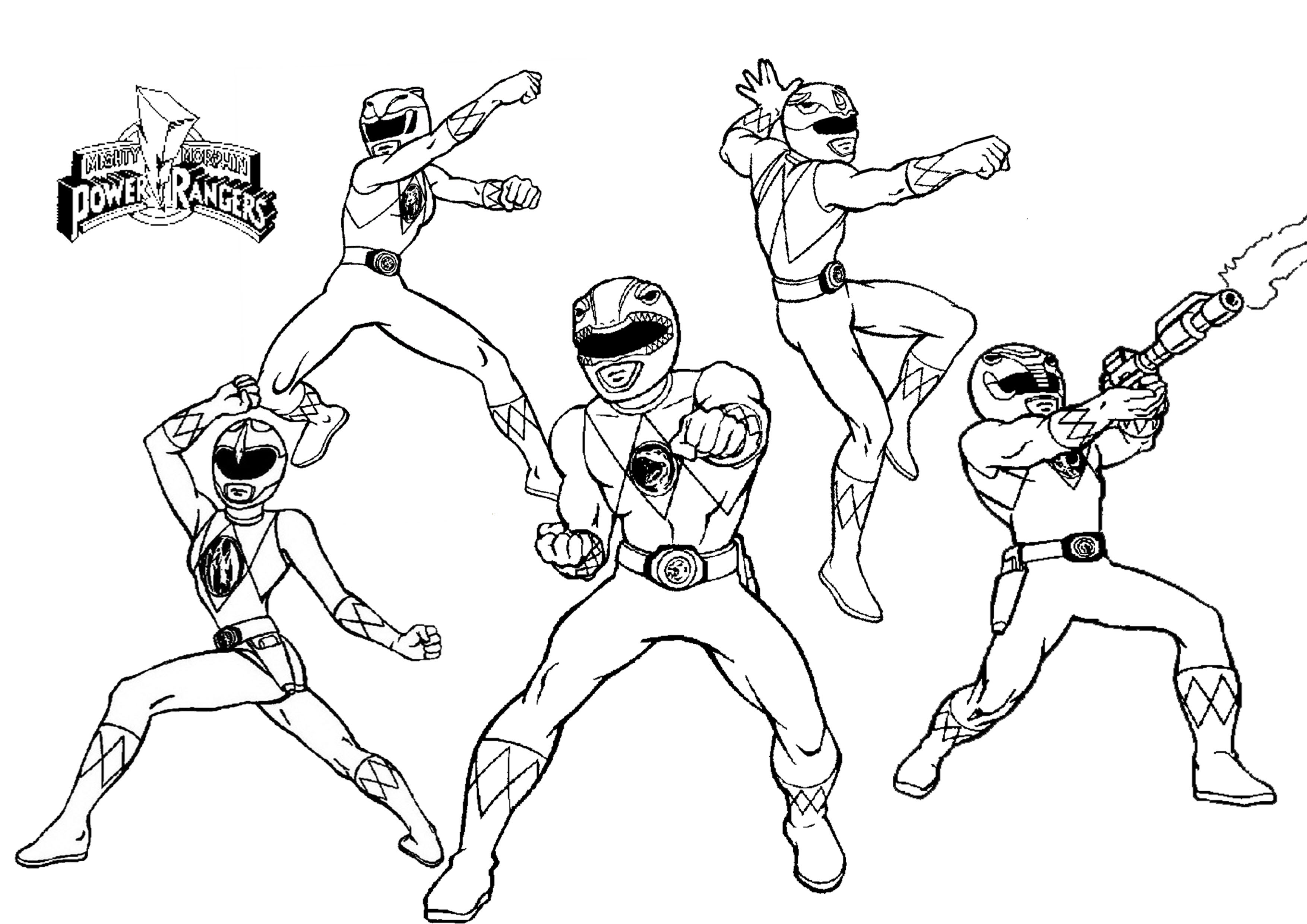 Pink Power Ranger Coloring Pages At Getdrawingscom Free For