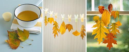 Arte con hojas4 Manualidades para niños: hojas de otoño transformadas en arte