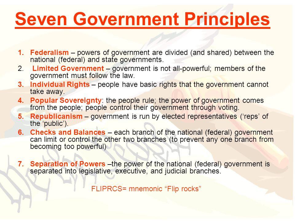 7 Principles Of The Constitution Worksheet - Nidecmege