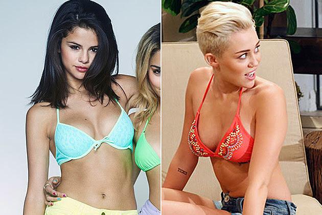Selena Gomez Bikini Picture Miley Cyrus Bikini Picture