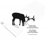 Caribou Grazing Silhouette Yard Art Woodworking Pattern - fee plans from WoodworkersWorkshop® Online Store - caribou,ungulates,animals,wildlife,african,yard art,painting wood crafts,scrollsawing patterns,drawings,plywood,plywoodworking plans,woodworkers projects,workshop blueprints