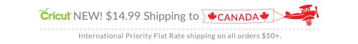 Get Flat Rate Shipping to Canada on Cricut Orders $50+