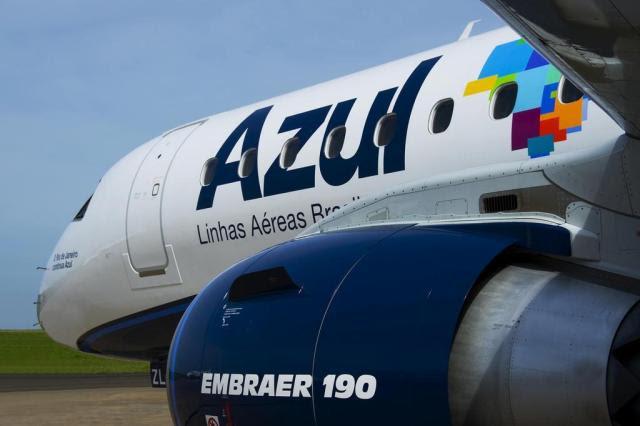 Grupo chinês compra 23,7% da Azul por R$ 1,7 bilhão Azul/Divulgação