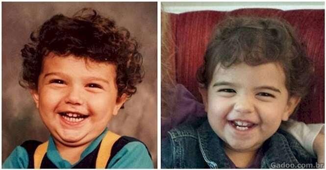 Fotos impressionantes de pais e filhos quando tinham a mesma idade
