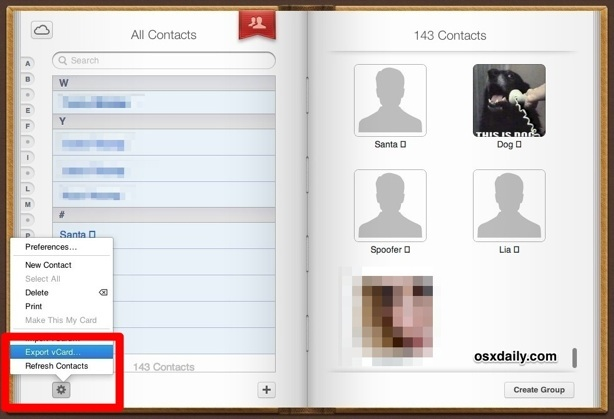 Export all iPhone contacts from iCloud