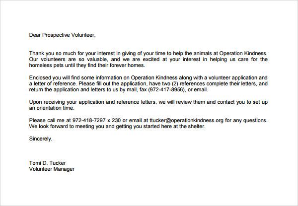 General Volunteer Thank You Letter