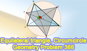 Problem 366. Scalene triangle, Circumcircle, Angles, 60 Degrees, Equilateral triangle.