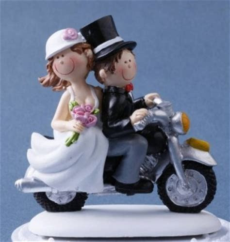 Brautpaar auf Motorrad   dekor24 DIMECOdeko