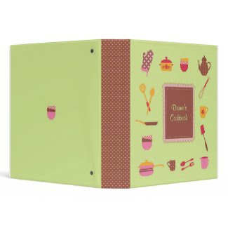 Illustrated Kitchen Utensils Avery Binder