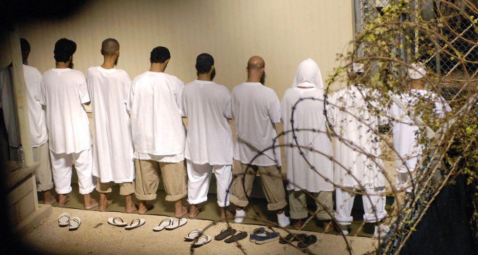 Detenidos en Guantánamo, en 2009.