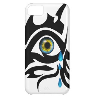 Tribal symbol with iris case for iPhone 5C