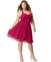 Ruby Rox Plus Size Dress, Rhinestone Pin Halter Party