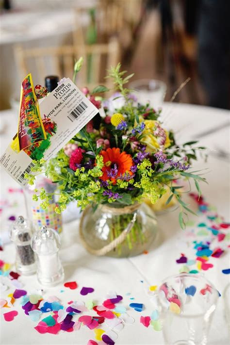 ideas  rainbow wedding decorations