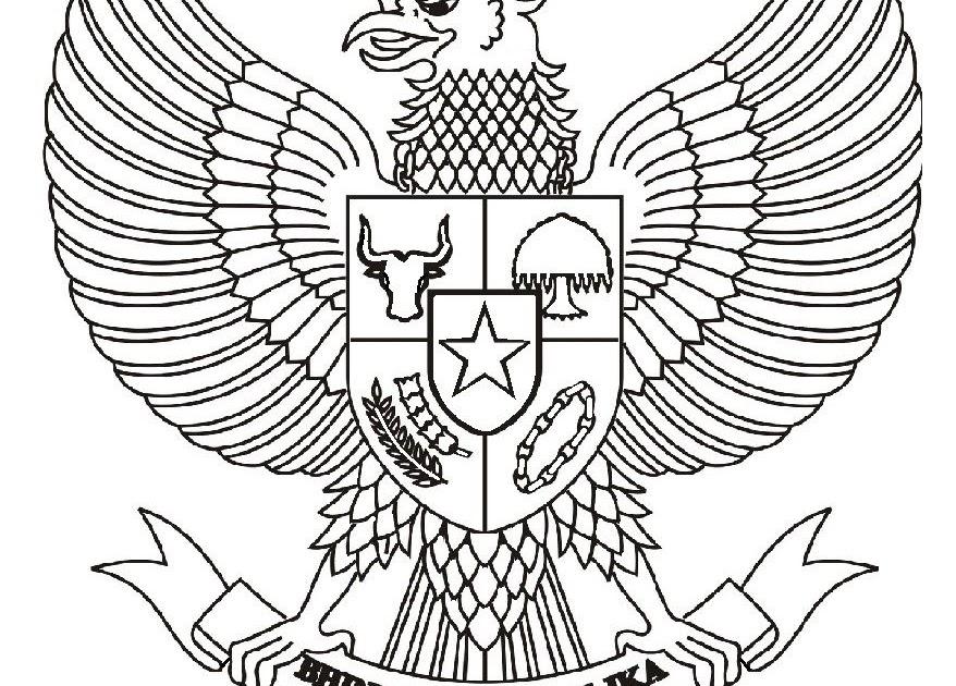 Mewarnai Gambar Burung Garuda Anak Tk
