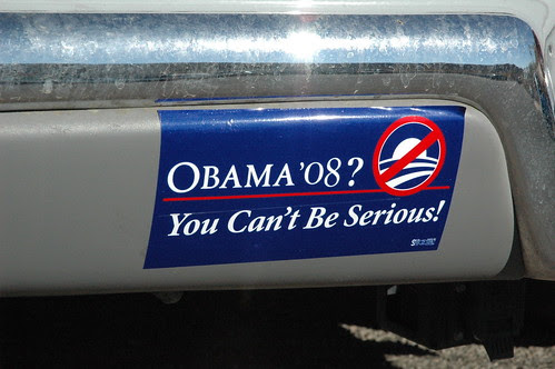 Anti-Obama bumper sticker in Nevada by Kevglobal.