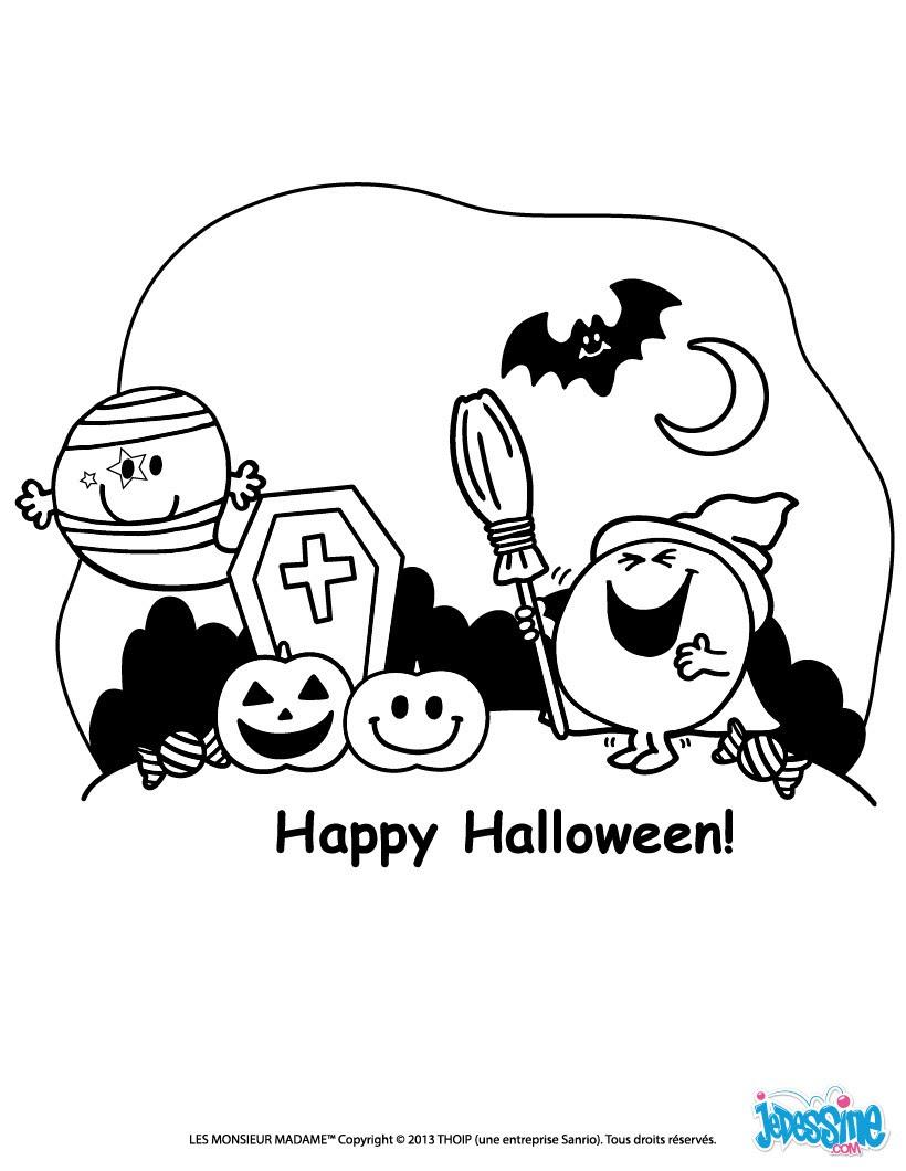 Coloriage Halloween Des Monsieur Madame Coloriages Coloriage à