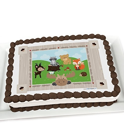 Woodland Birthday Party Edible Cake Decorations | Birthday ...