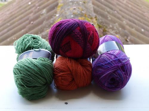 More sock yarns....