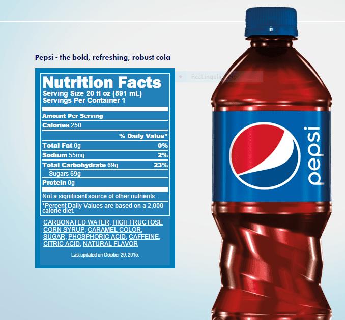Diet Pepsi Nutrition Label - Best Label