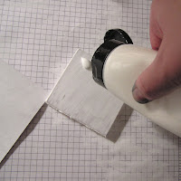 gesso with a block