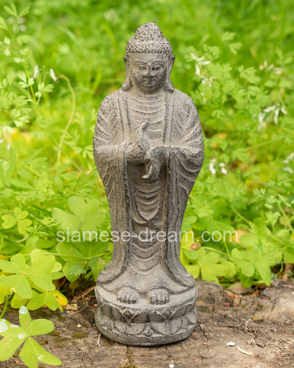 Lava Stone Buddha Statue From Bali Dharmachakra Mudra The Buddha Garden