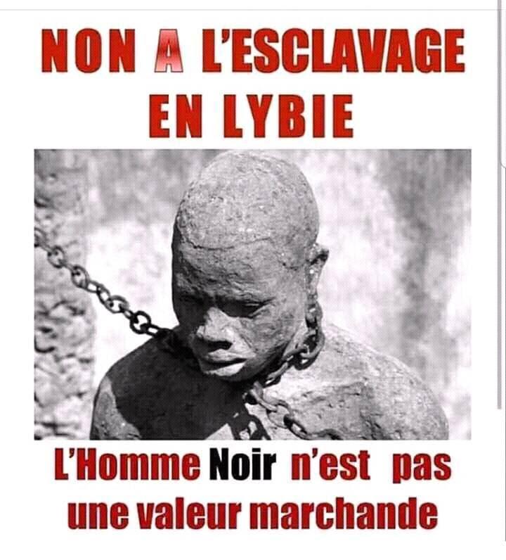 """Résultat de recherche d'images pour """"Je dis non à l'esclavage en Lybie, l'homme noir n'est pas une marchandise"""""""""""