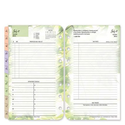 Franklin Covey Blooms Ring-bound Daily Planner (one page per day ...
