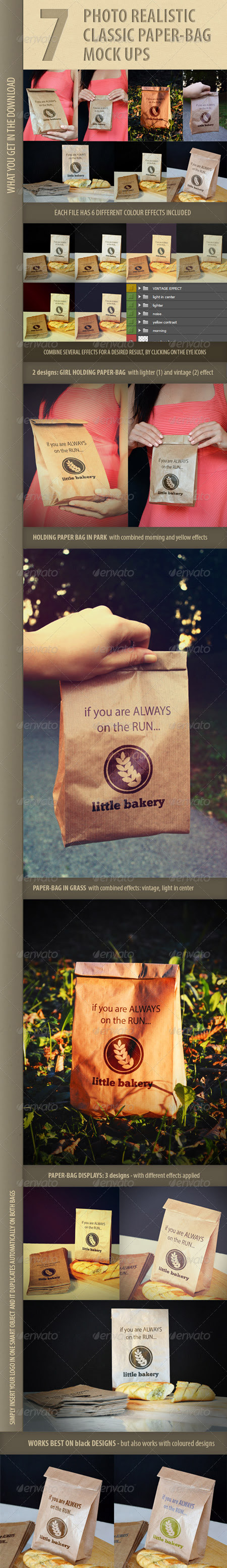 GraphicRiver 7 photo-realistic paper bag mock-ups