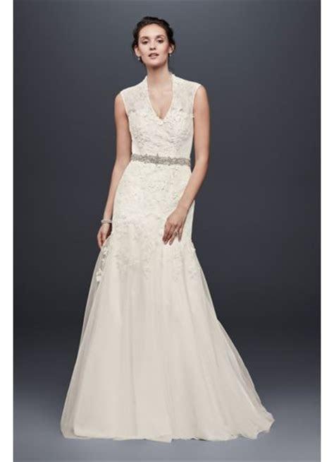 Melissa Sweet Cap Sleeve Lace Wedding Dress   David's Bridal