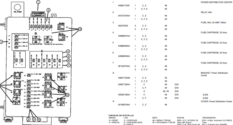 28 2006 Chrysler 300 Fuse Diagram