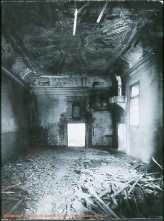 Hospital de Santa Cruz durante la Guerra Civil, Toledo, España