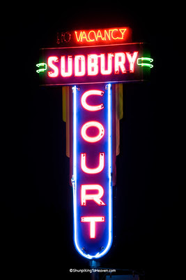 Sudbury Court Motel Sign, Iowa County, Iowa