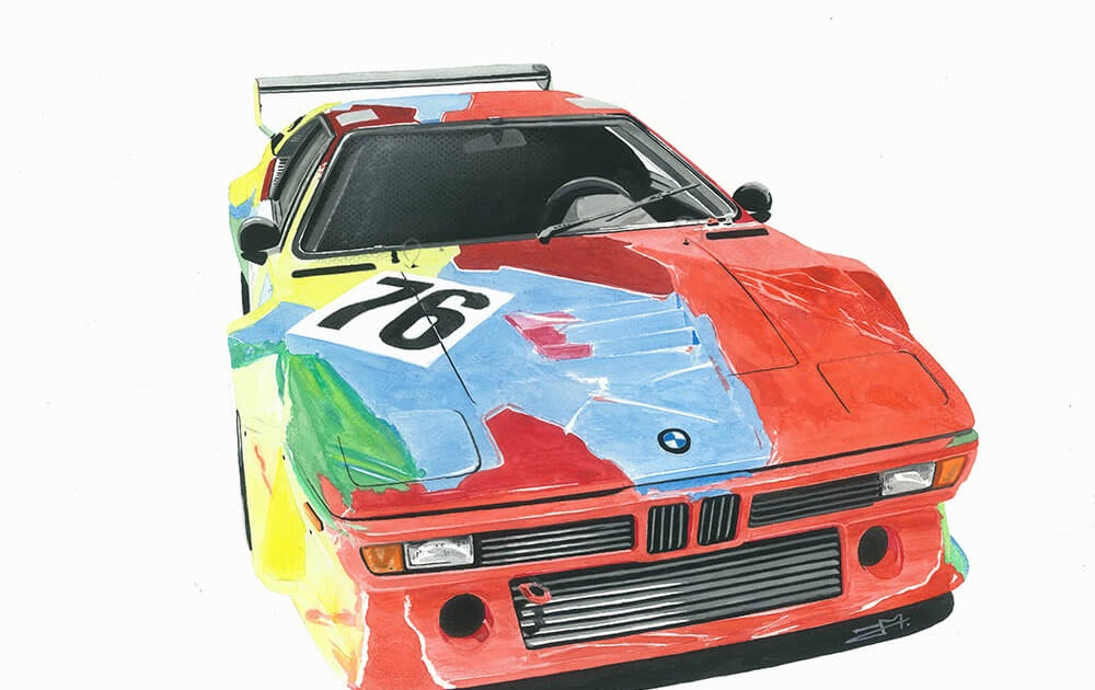 POSTER VINTAGE DEM BMW M3  AUTO PILOTA RALLY GARA TEAM WARSTEINER QUALITY TOP