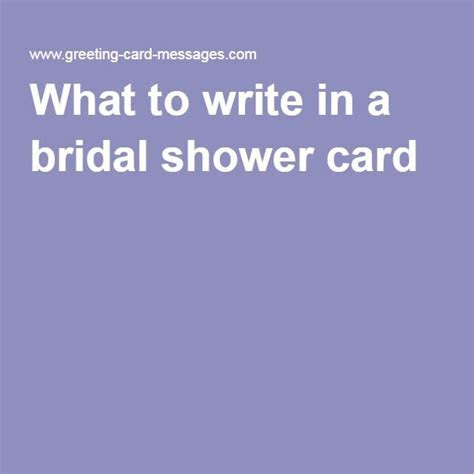 What to write in a bridal shower card   Sayings