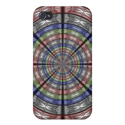 Moth Big RGB Round iPhone 4 Cases