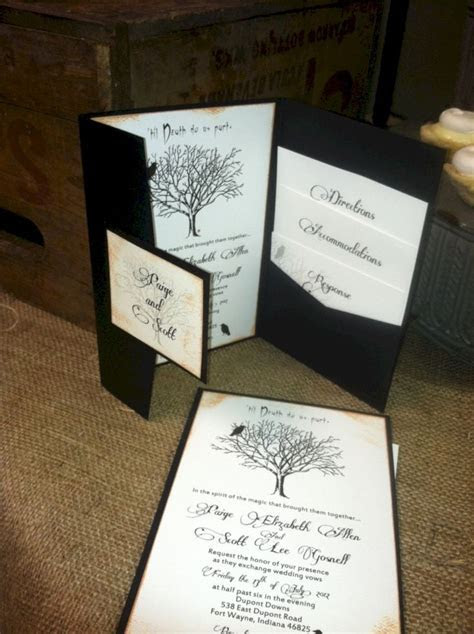 Best 25  Halloween wedding invitations ideas on Pinterest