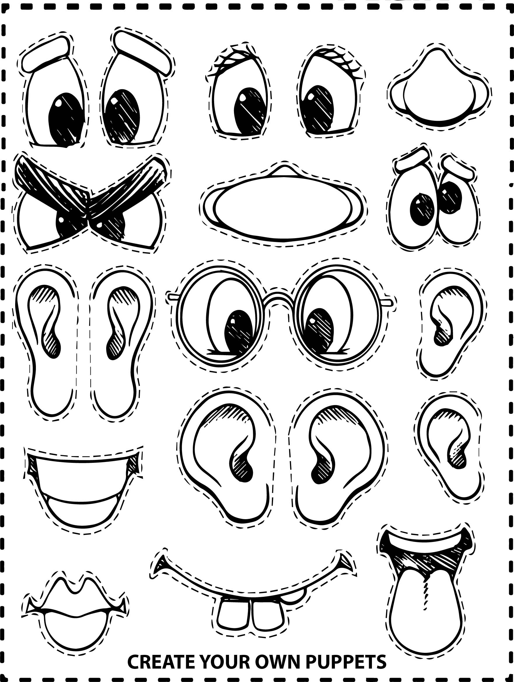 Create Your Own Face Coloring Page | Wecoloringpage.com