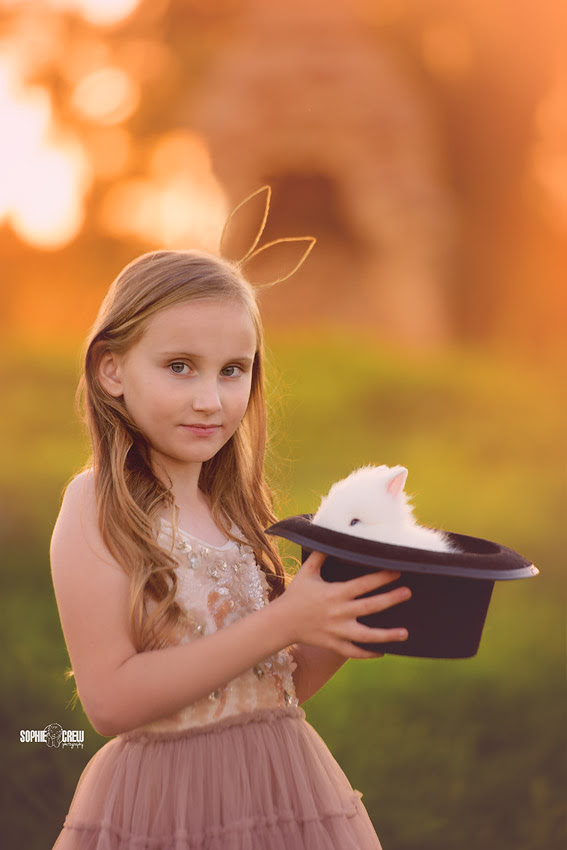 A Magical Child Photography Session With Bunnies In San Diego Ca
