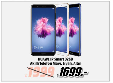 HUAWEI P Smart 32GB Akıllı Telefon Mavi, Siyah, Altın 1699TL