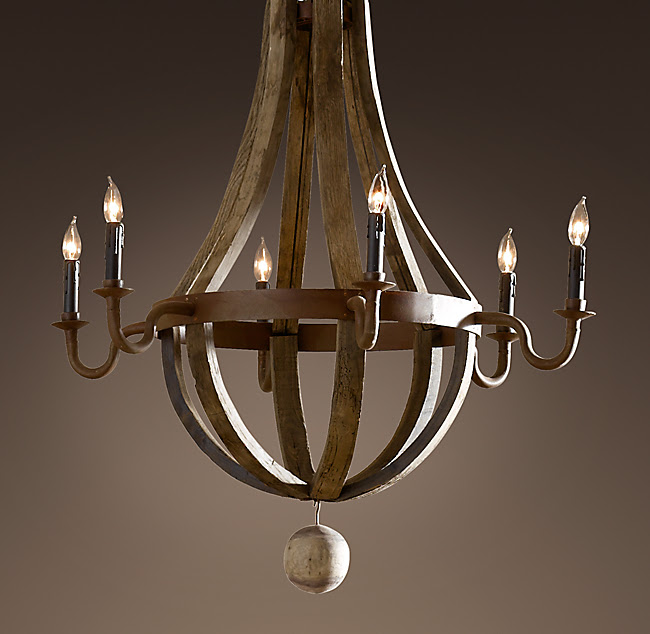 Wine Barrel 6-Arm Chandelier