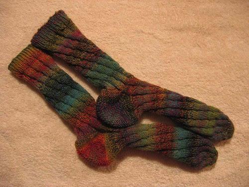 Katherine's second pair of Sockapaloooza socks