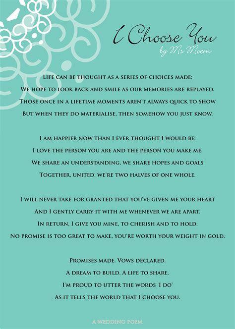 I Choose You   A Wedding Poem   Marriage Celebrant Cathlyn