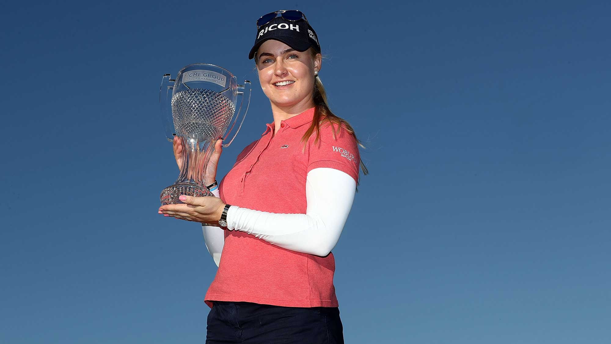 Charley Hull with CME trophy