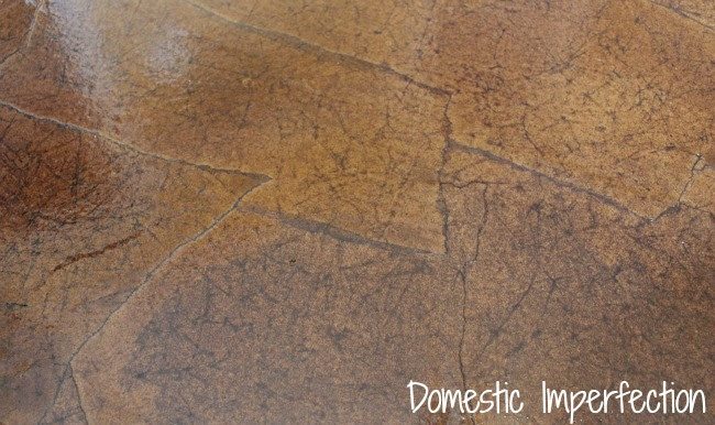 Paper flooring - looks like stones or leather