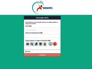 Inep recebe inscrições para o Enem 2015 até o dia 5 de junho (Foto: Reprodução/Inep)