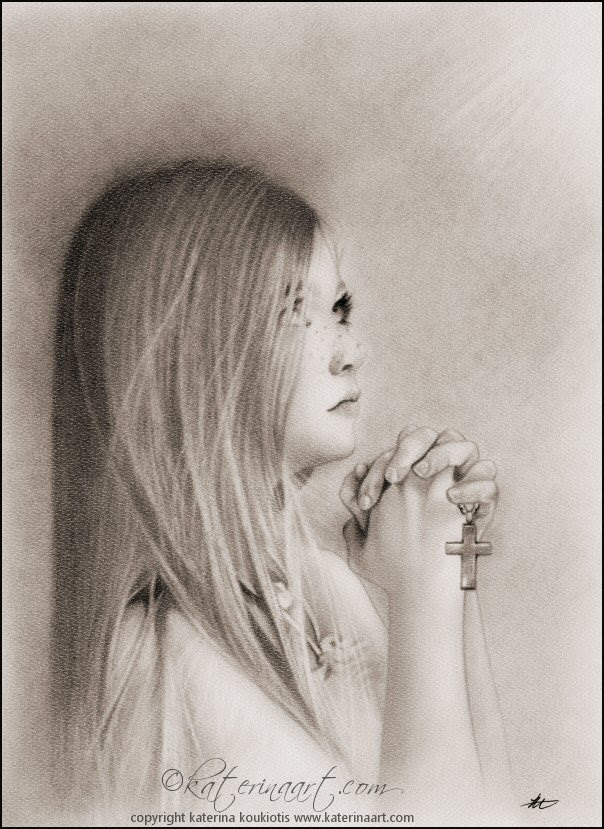 Girl Praying Drawing At Getdrawingscom Free For Personal Use Girl