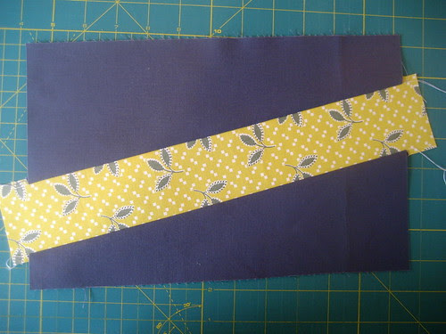 diagonal strip sewn