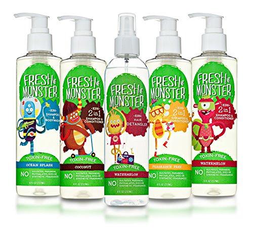 Fresh Monster Kids Shampoo & Body Wash, Ocean Splash (8oz ...