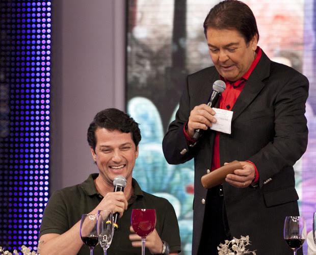 Marcelo Serrado (Foto: Domingão do Faustão / TV Globo)