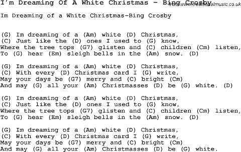 I Ve Been Dreaming Of A White Christmas Lyrics